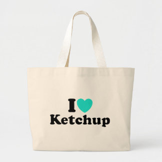 I Love Ketchup Jumbo Tote Bag