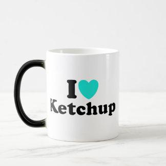 I Love Ketchup 11 Oz Magic Heat Color-Changing Coffee Mug