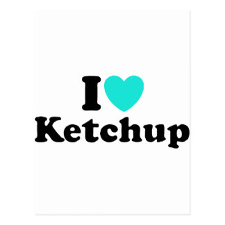 I Love Ketchup Postcard
