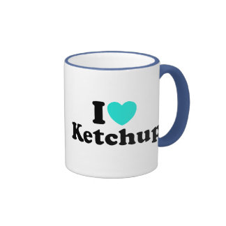 I Love Ketchup Ringer Coffee Mug