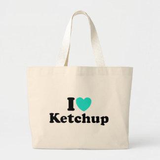 I Love Ketchup Tote Bags