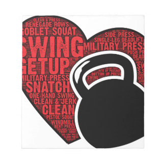 I LOVE KETTLEBELL DESIGN NOTEPAD