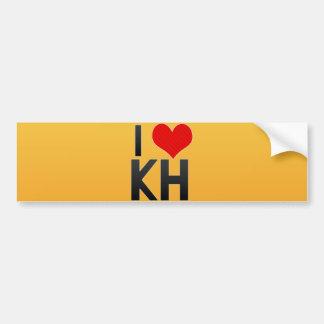 I Love KH Car Bumper Sticker