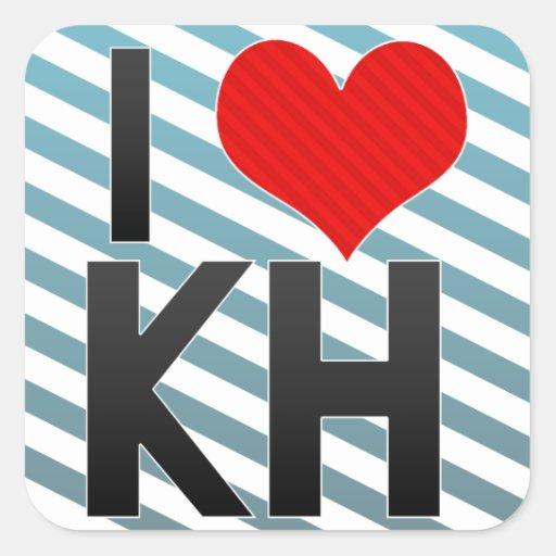 I Love KH Sticker