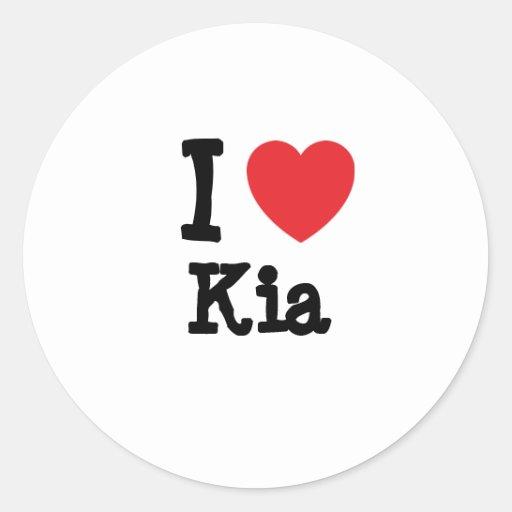 I love Kia heart T-Shirt Stickers