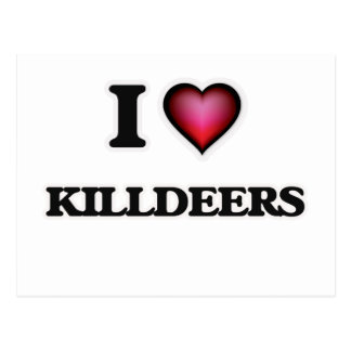 I Love Killdeers Postcard