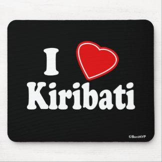 I Love Kiribati Mouse Pads