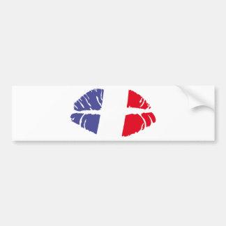 I love kiss heart FRANCE Bumper Sticker