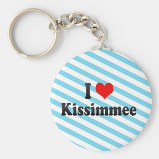 I Love Kissimmee, United States Basic Round Button Key Ring