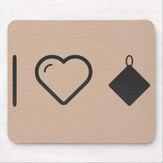 I Love Kitchen Towels Mouse Pad