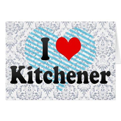 I Love Kitchener, Canada Greeting Cards