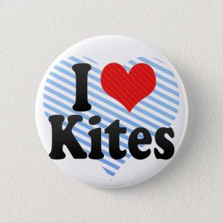 I Love Kites 6 Cm Round Badge