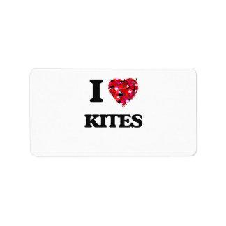 I Love Kites Address Label