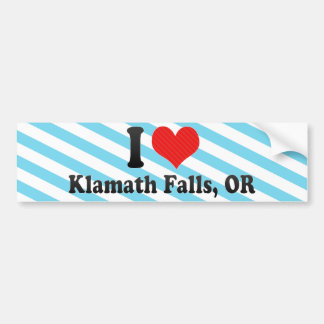 I Love Klamath Falls, OR Bumper Sticker
