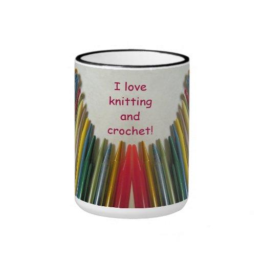 I Love Knitting & Crochet Mug