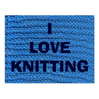 I LOVE KNITTING POSTCARD