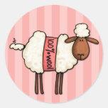 i love knitting round sticker