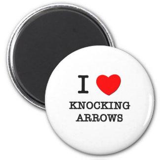 I Love Knocking Arrows 6 Cm Round Magnet