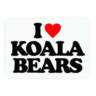 I LOVE KOALA BEARS INVITATIONS