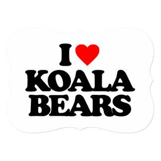 I LOVE KOALA BEARS CUSTOM INVITATION