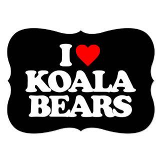 I LOVE KOALA BEARS PERSONALIZED INVITES