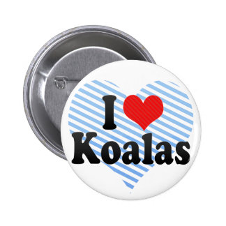 I Love Koalas 6 Cm Round Badge