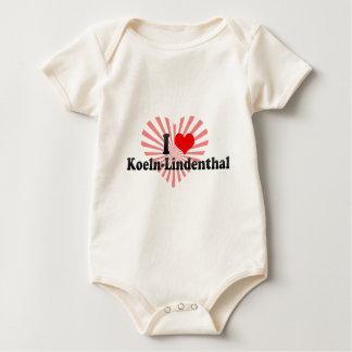 I Love Koeln-Lindenthal, Germany Baby Bodysuit