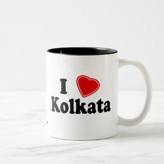 I Love Kolkata Two-Tone Mug