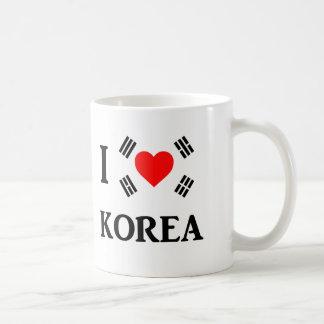 I love korea coffee mug