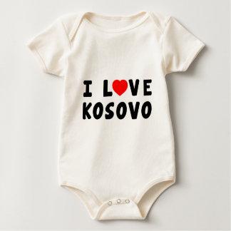 I Love Kosovo Baby Bodysuit