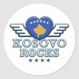 I Love Kosovo. Classic Round Sticker
