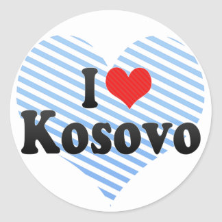 I Love Kosovo Classic Round Sticker