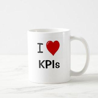 I Love KPIs I Heart KPIs Double Sided Basic White Mug