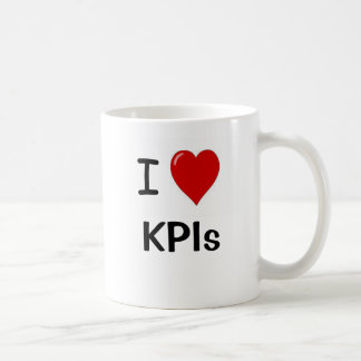 I Love KPIs I Heart KPIs Double Sided Coffee Mug