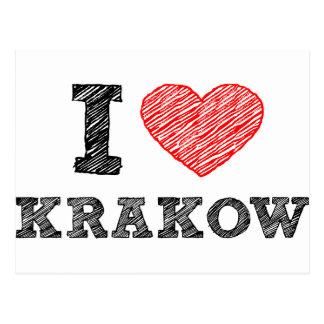 I Love Kraków Postcard