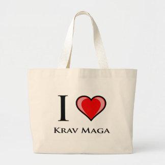 I Love Krav Maga Tote Bags