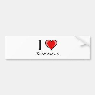 I Love Krav Maga Bumper Sticker