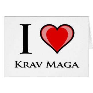 I Love Krav Maga Card