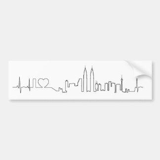 I love Kuala Lumpur (ecg style) souvenir Bumper Sticker