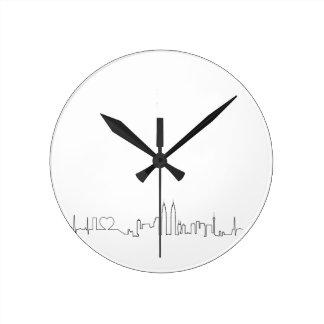 I love Kuala Lumpur ecg style souvenir Round Wall Clocks