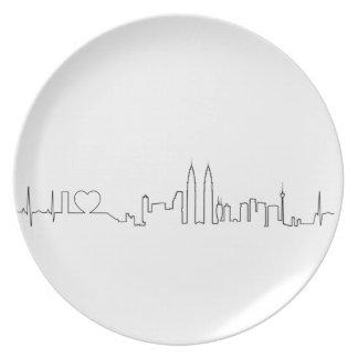 I love Kuala Lumpur (ecg style) souvenir Plates