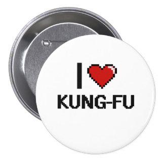 I Love Kung-Fu Digital Retro Design 7.5 Cm Round Badge