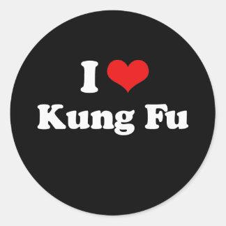 I Love Kung Fu Tshirt Classic Round Sticker