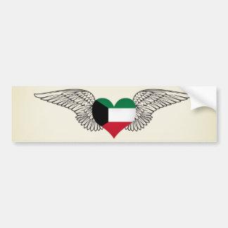 I Love Kuwait -wings Bumper Sticker