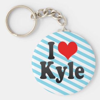 I Love Kyle, United States Basic Round Button Key Ring