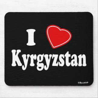 I Love Kyrgyzstan Mouse Pad