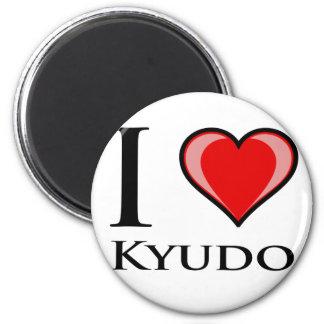 I Love Kyudo 6 Cm Round Magnet