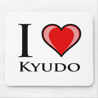 I Love Kyudo Mouse Pad
