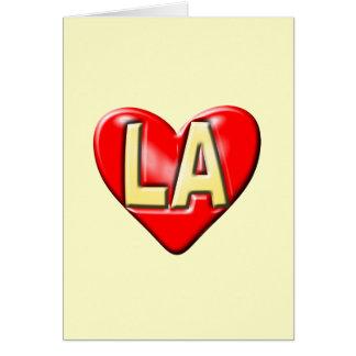 I Love LA Greeting Card
