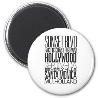 I Love LA 6 Cm Round Magnet